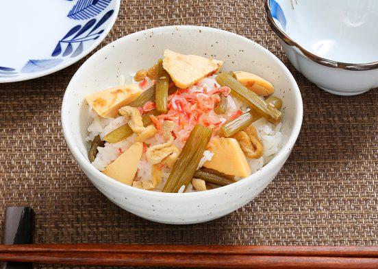 蕗と筍のご飯