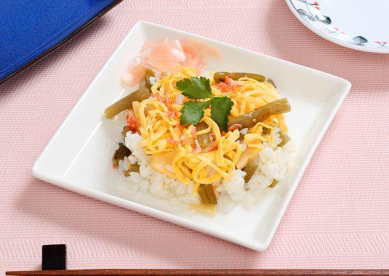 蕗と筍のちらし寿司