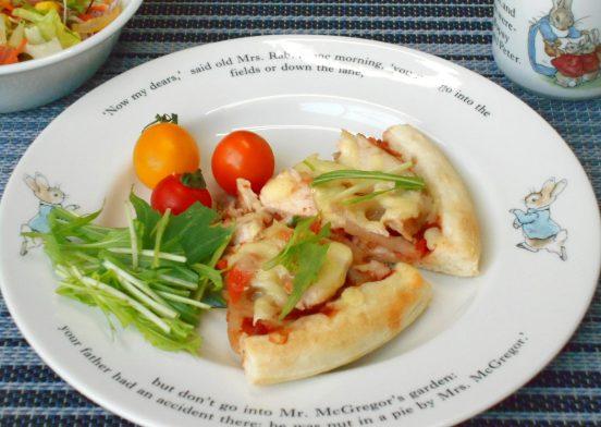 根菜和風ピザ