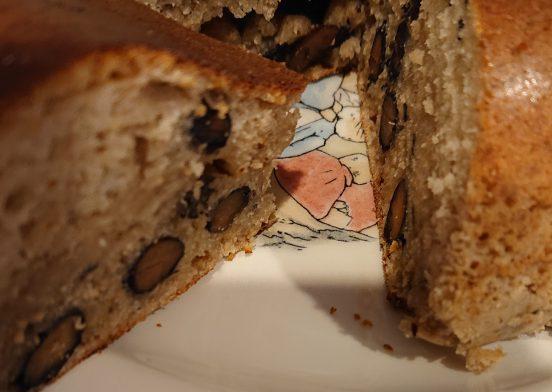 黒豆とあんこのケーキ